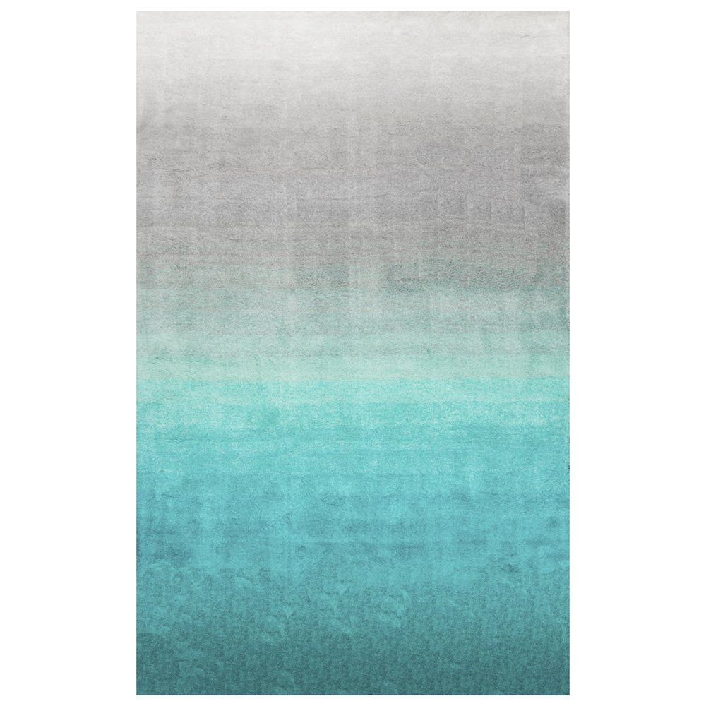 shop nuloom hjos02a turquoise handmade ombre shag area rug at atg