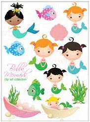 Image result for mermaid clipart