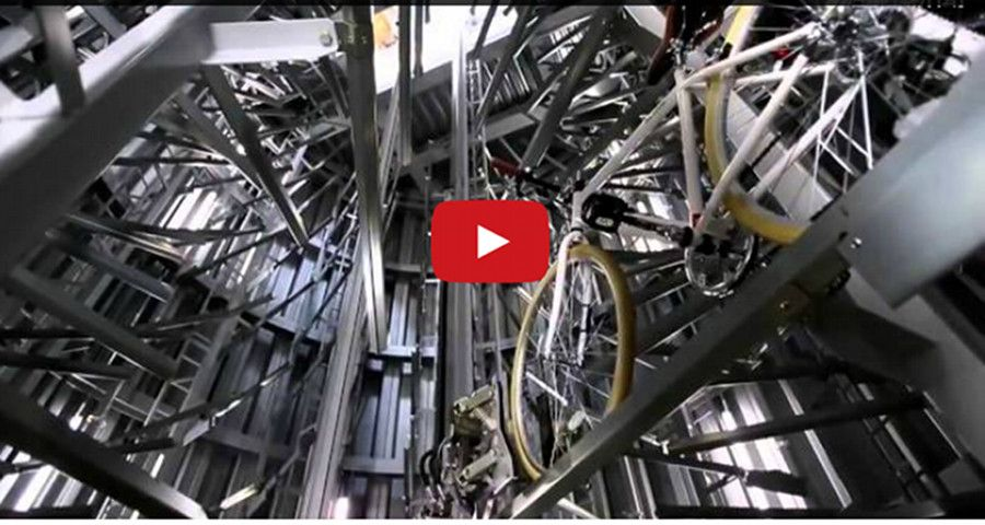 Bike Parking in the Future! Now This Is High-Tech!