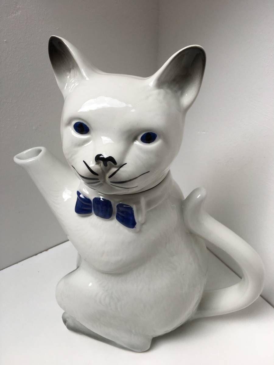 希少 レア トニーウッドスタジオ Tony Wood Stud ヤフオク ティーポット 猫 英国