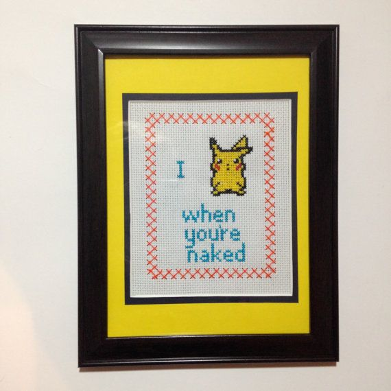 hahaha! The best cross stitch I've seen! Putting this in the bathroom for sure