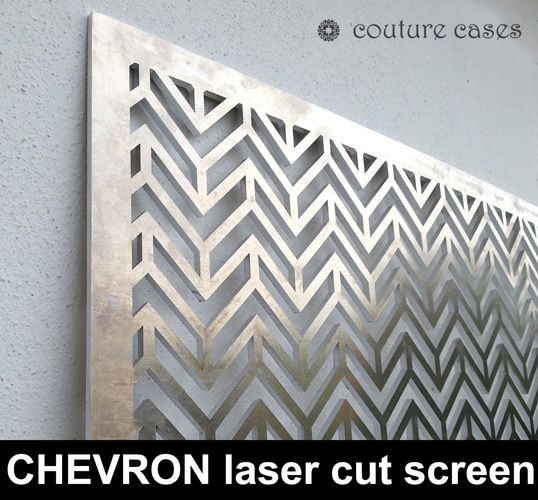 CHEVRON laser cut metal screens and architectural fretwork Laser