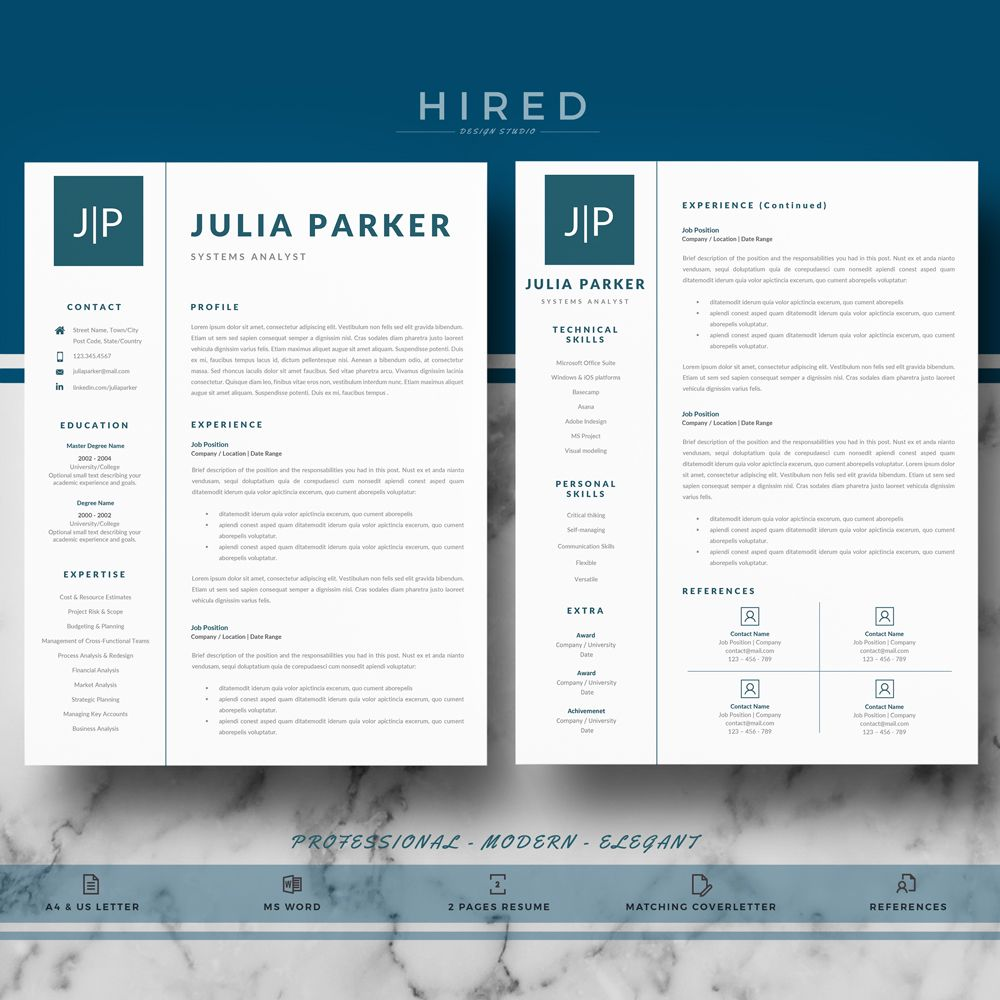 Resume Template For Ms Word  Resume Templates For Ms Word