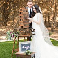 Jenga Lawn Game is always a crowd pleaser! Entertain your guests with yard games Dixie Does vintage in Dallas Tx @DixiDoesVintage photo by Michelle rice photography
