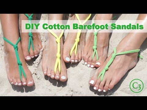 c4e0ab988c6c DIY Cotton Barefoot Sandals - YouTube