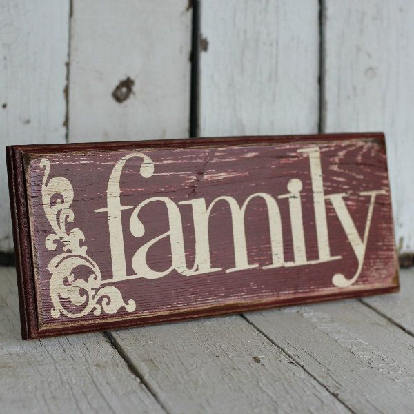 Reclaimed, Painted And Distressed Wood Sign