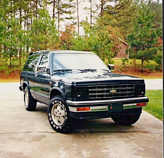 89 Chevy Blazer S 10 4x4 Had One My Very First Truck Had Good Times Offroading And Stuff I Miss It Alot Mine Was Dark Grey And Chevy S10 Chevy Trucks Chevy