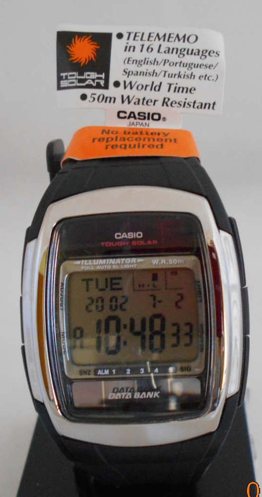 737d4d335 Casio watch Mens DB-E30-1AVD Solar Data Bank World Time Alarm Day Counter # Casio #Sport