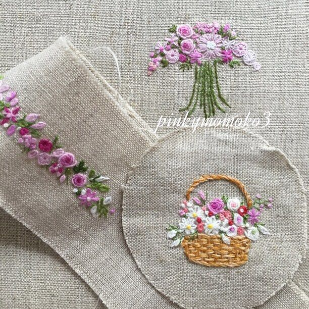 Small embroidery flowers makaroka