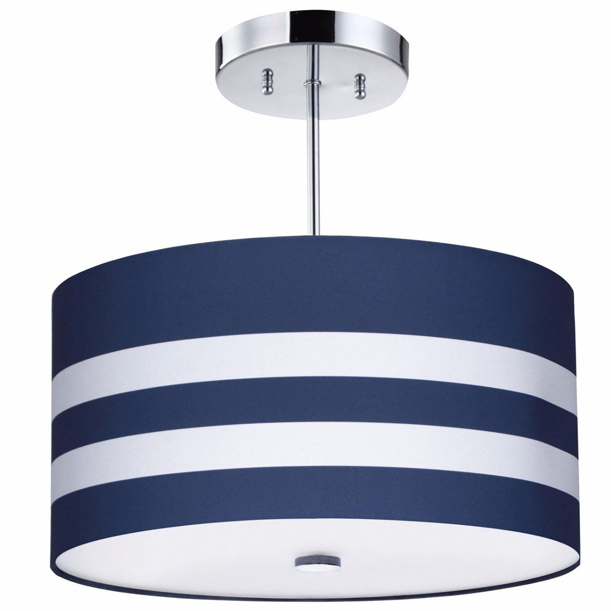 Navy Stripes Light Fixture, 12-Light  Kids room lighting fixture