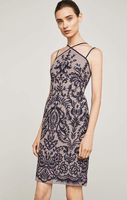 e894f4d551402f BCBGMAXAZRIA Embroidered Halter Dress