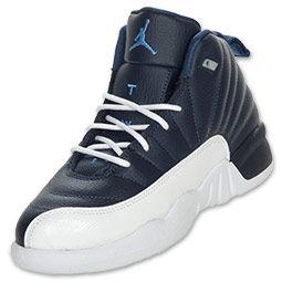 Air Jordan Retro 12 Obsidian Preschool Basketball Shoes #FinishLine