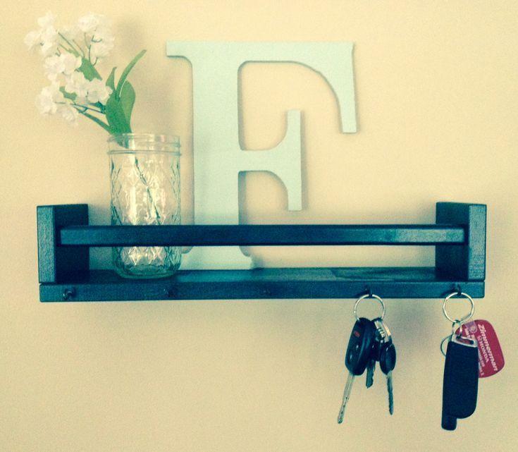 ***Schlüsselbrett aus Ikea Gewürzregal - #aufbewahrung #aus #Gewürzregal #IKEA #Schlüsselbrett #selbstgemachtezimmerdeko