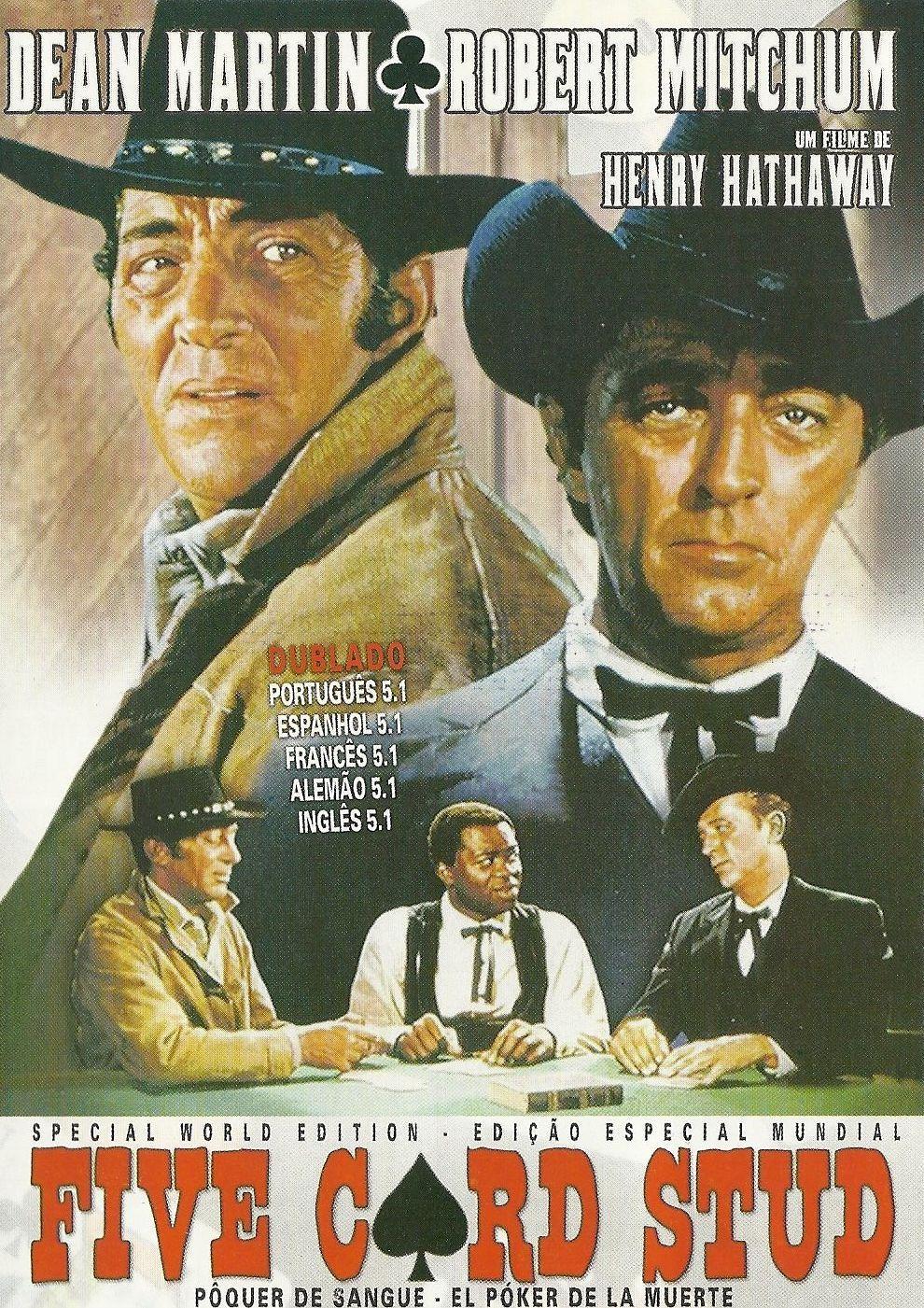 Dean Martin Robert Mitchum Cowboy Marlonndo Evaristo Marquez Norman Hill Thomas Lyons Five Card Stud