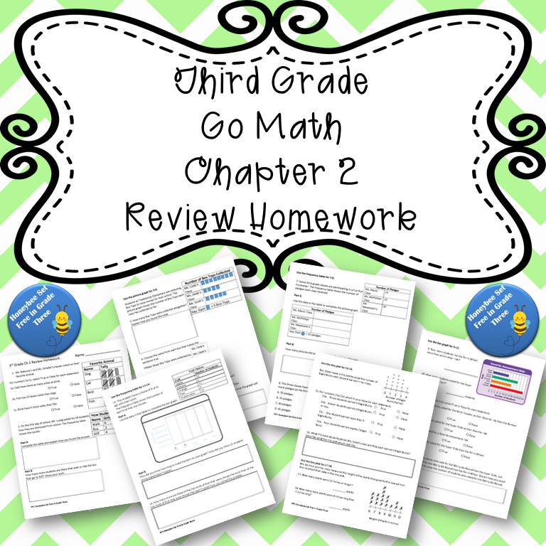 Third Grade Go Math Chapter 2 Review Homework | Go math ...