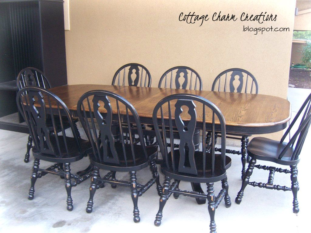 Love This Refinished Table Refinished Table Farmhouse Dining