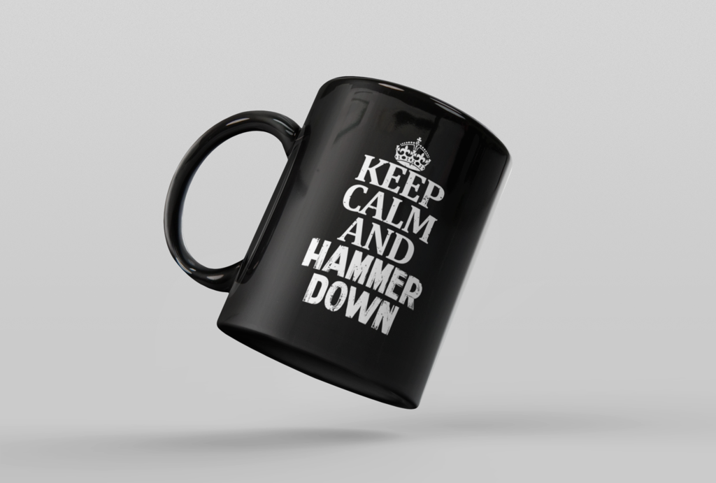 Keep Calm and Hammer Down Coffee Mug Mugs, Funny truck