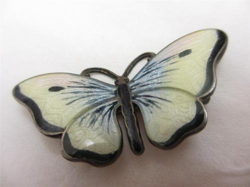 Antique c1930 Art Deco Norway Hjortdahl Sterling Silver Enamel Butterfly Brooch | eBay