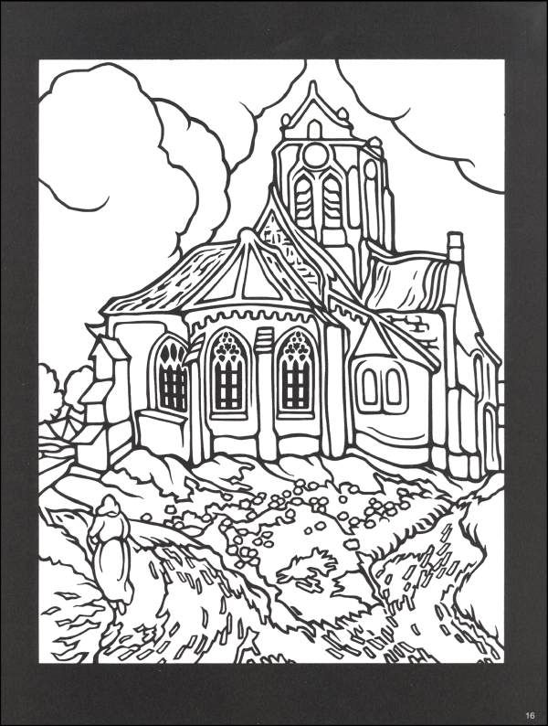 Van Gogh Stained Glass Coloring Book 038803 Images Van Gogh Coloring Books Stained Glass Paint