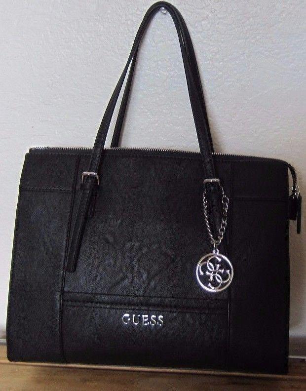 ddb6c28c9da8 ... GUESS Marciano Faux Leather Black DELANEY Satchel Tote Bag Purse NWT  newest 1ac34 68746 ...