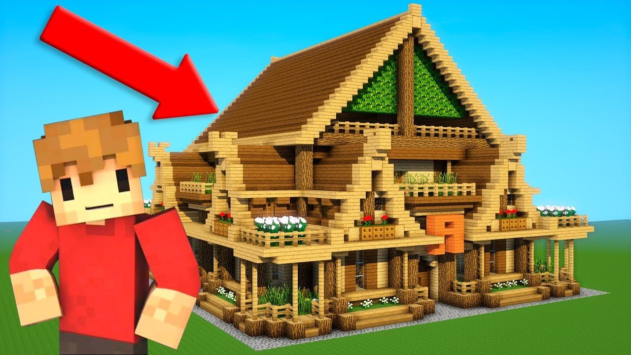 Grian Building A Rustic House With Grian Grian Tutorial Https Cstu Io 89c693 Rustic House Minecraft Designs Rustic