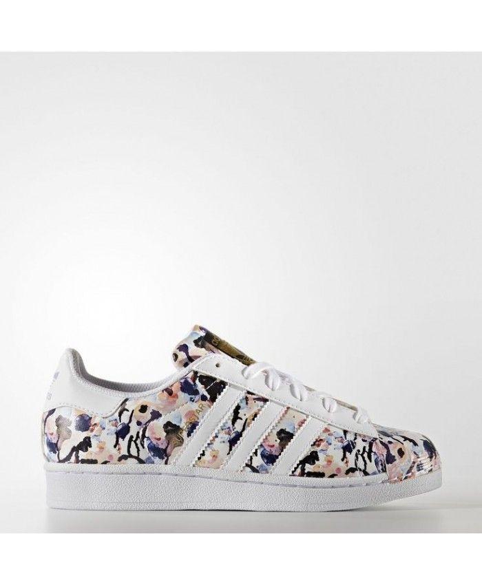 Adidas Superstar Custom White Camo Trainer