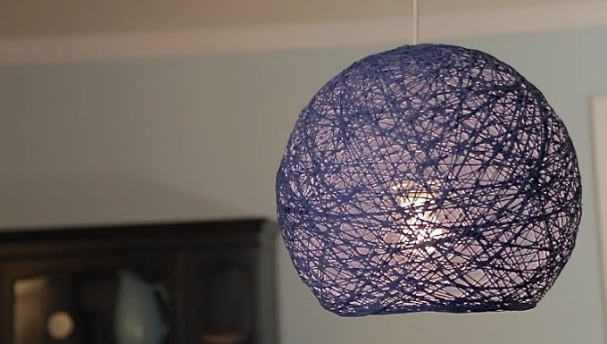 How to make giant Yarn Lampshades, Lanterns, and Globes | MADE - even temporarily would be cool light fittings
