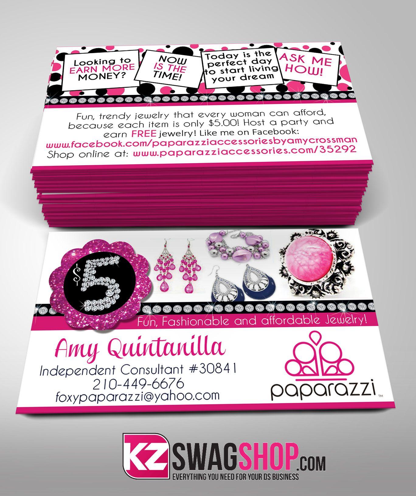 Paparazzi Jewelry Business Cards Style 11   Paparazzi Business Cards ...