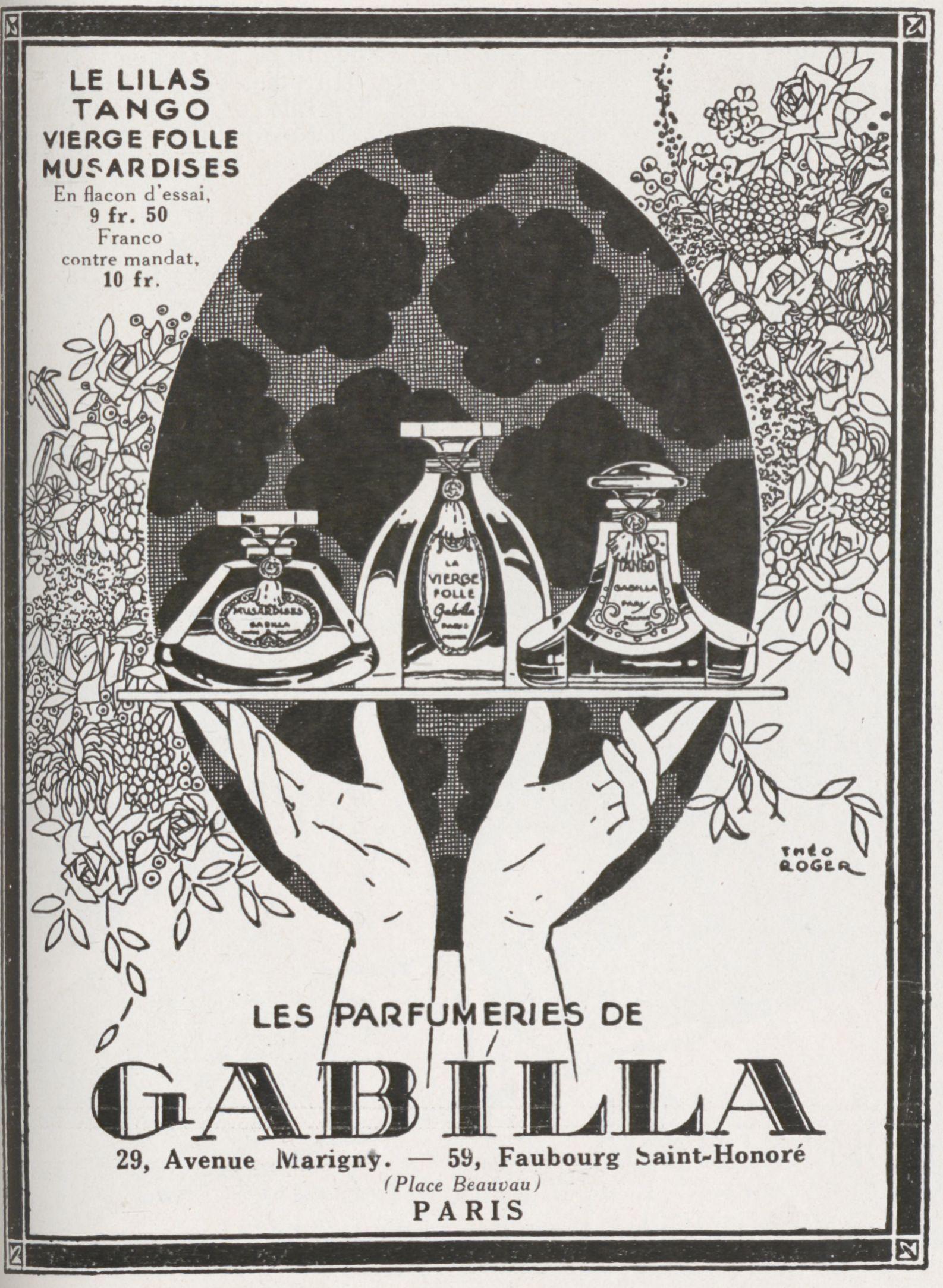 Les parfumeries de Gabilla Paris - magazine Vogue 1924