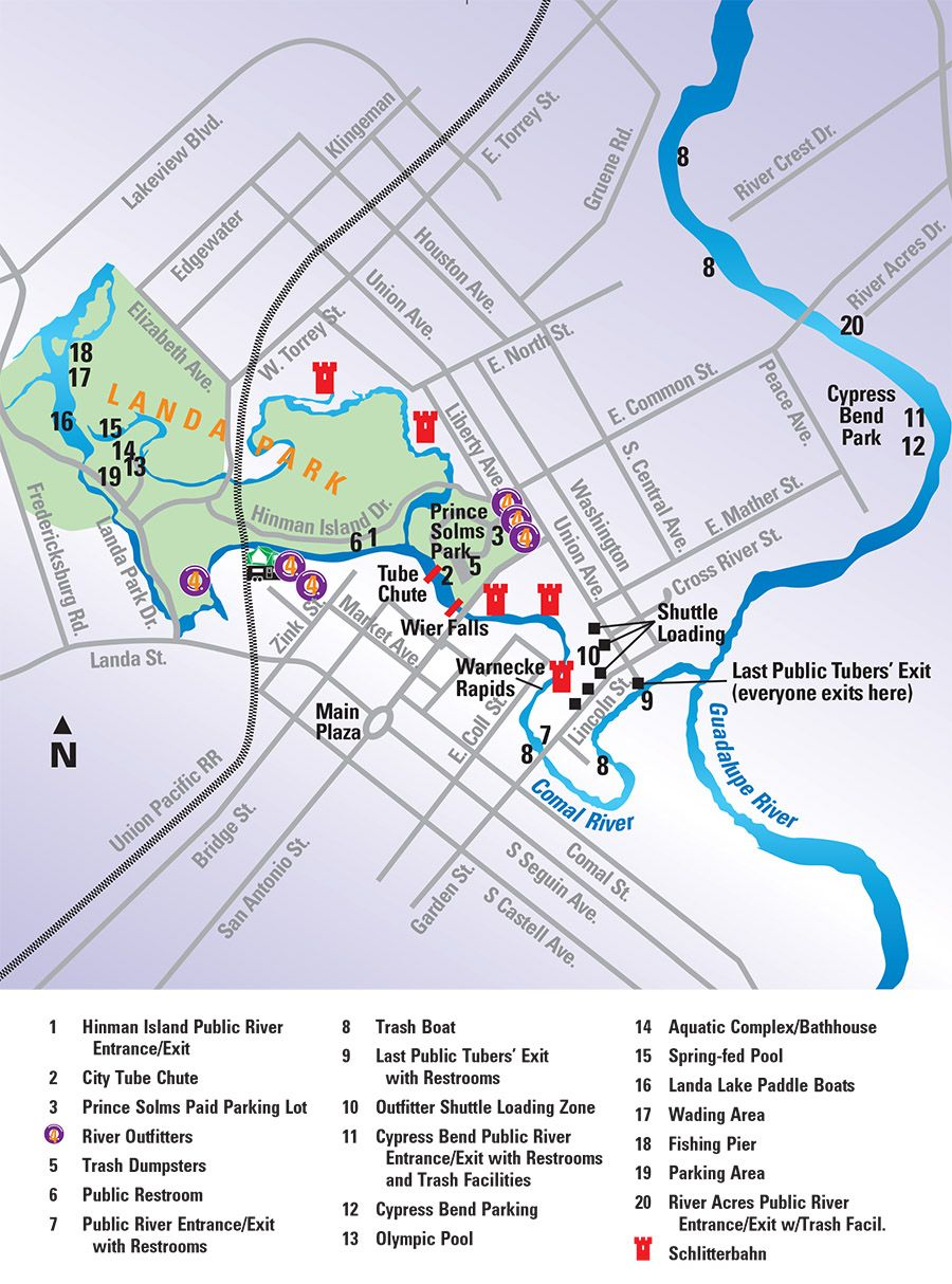 Map Of Texas New Braunfels