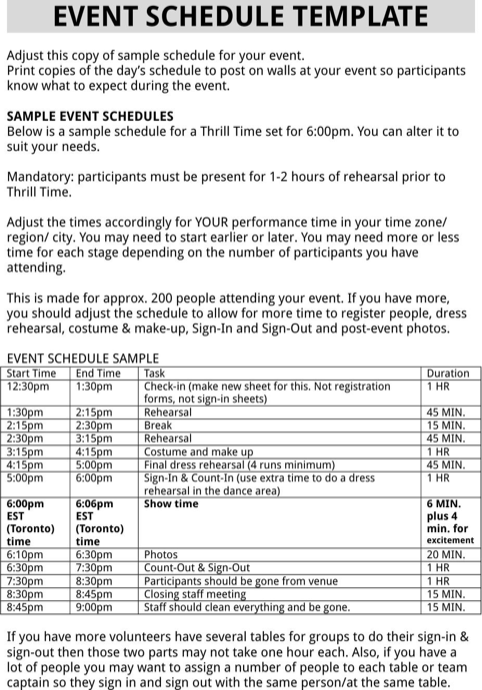 Event Schedule  TemplatesForms    Schedule Templates