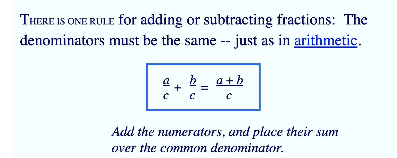 Alegbraic Fractions Subtracting Fractions Algebra Fractions Adding and subtracting radical numbers