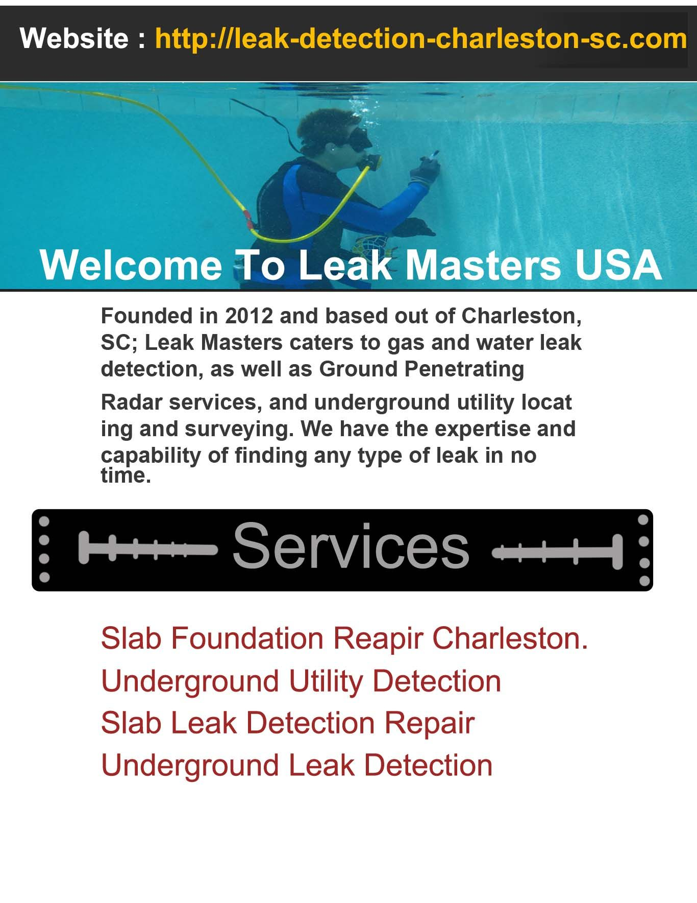 We Are A Prominent Provider Of Underground Leak Detection Service In South Carolina We Use Latest Technology To Detect U Leak Repair Slab Leak Latest Technology