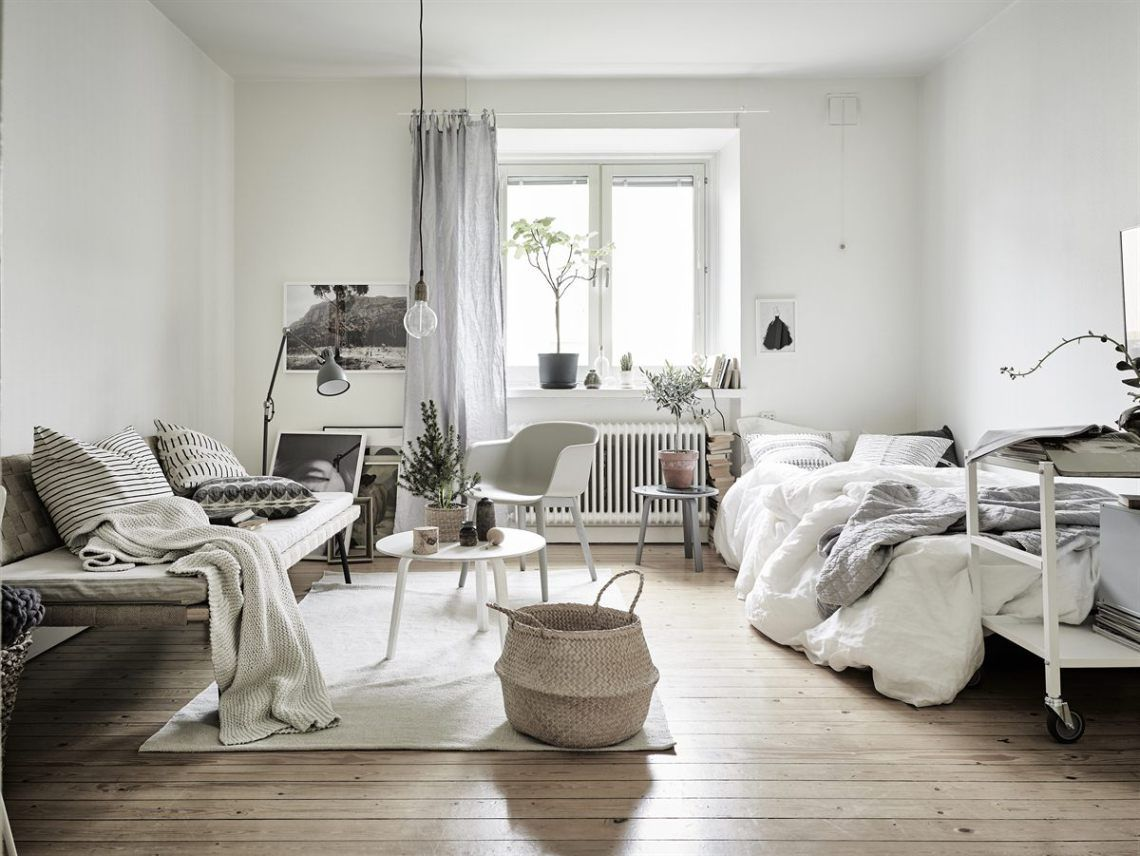 Neutral colors and greenery