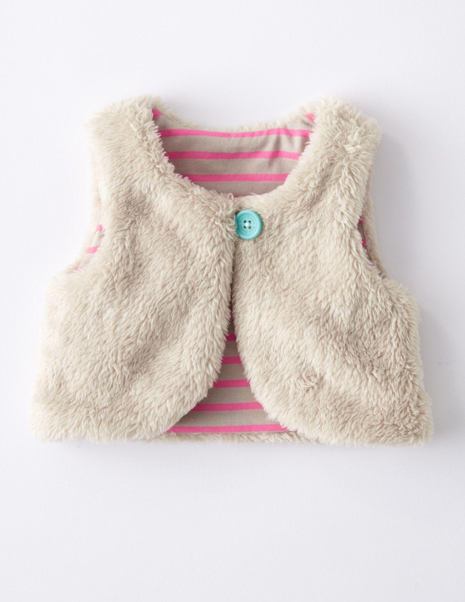 24d7e85cc Reversible Fleece Gilet 71331 Girls at Boden baby infant toddler ...