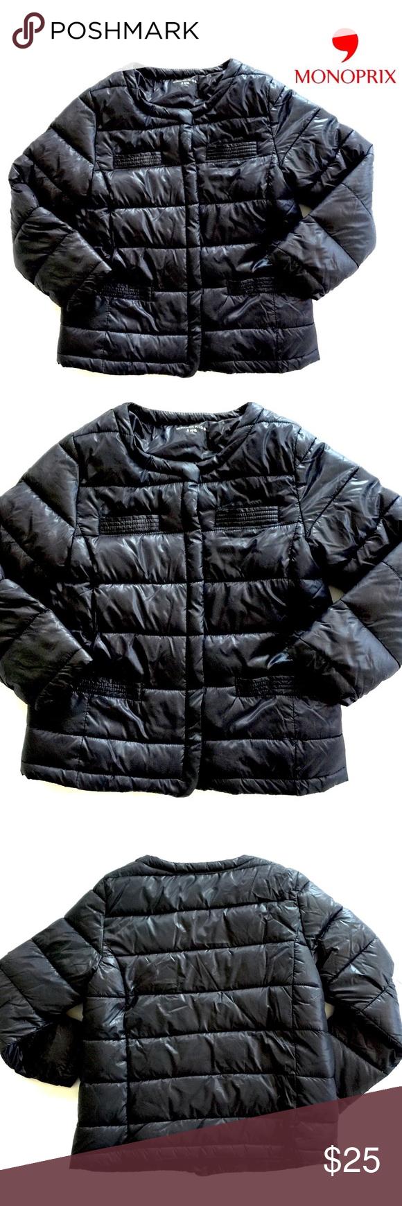 Authentic Monoprix Paris Puffer Coat In Girls 7 8 Puffer Coat Clothes Design Coat