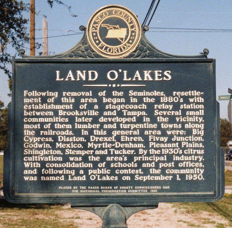 land o lakes florida.