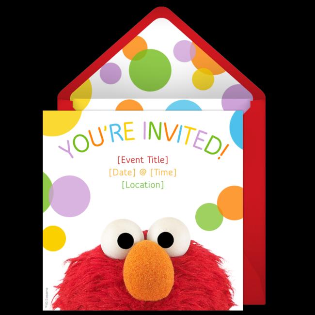 Free Elmo Invitations Elmo Birthdays and Free