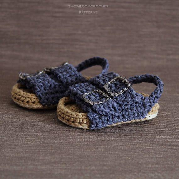Crochet PATTERN. Birkenstock style baby sandals   estilo Birkenstock ...