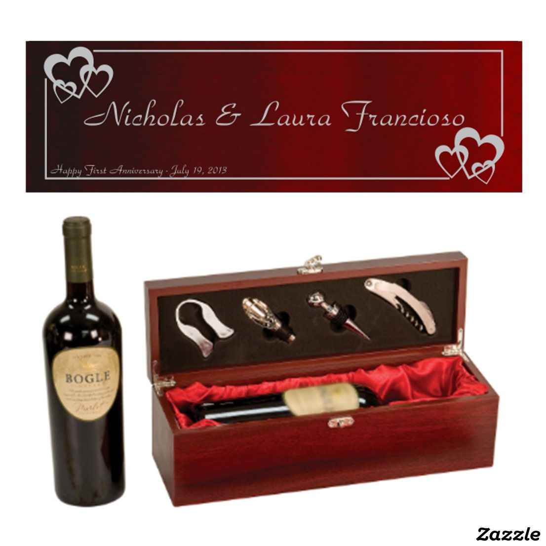 Rosewood Personalized Wine Presentation Gift Box Zazzle Com Personalized Wine Wine Gifts Gifts For Wine Lovers