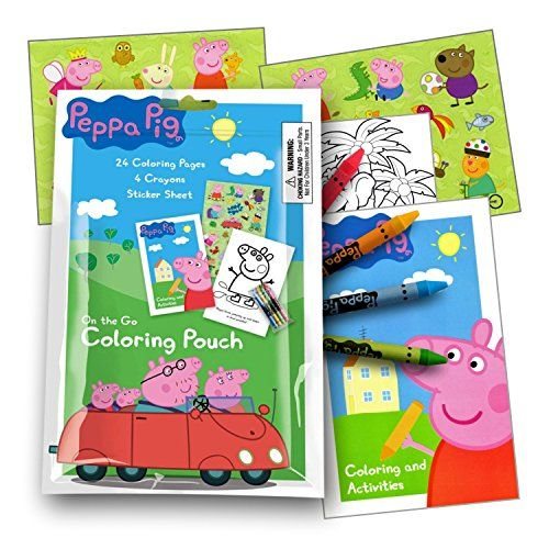 Peppa Pig Fun Coloring Pack With Stickers Each Resealable Pack Contains 1 Coloring Activity Book 4 Crayons And 1 Travel Size Products Peppa Pig Coloring Books