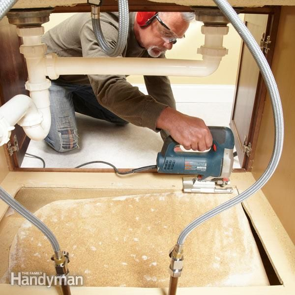 How To Replace A Sink Base Cabinet Floor Sinks Kitchens