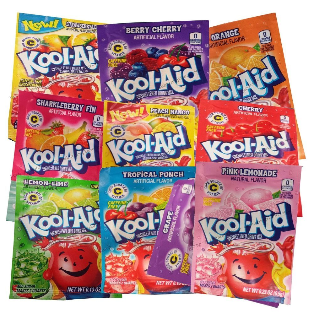 Kool Aid Natural Fruit Drink Mix Kool Aid Man 30 Packets Select Your Flavors In Drink Mixes Ebay Kool Aid Mixed Drinks Fruit Drinks