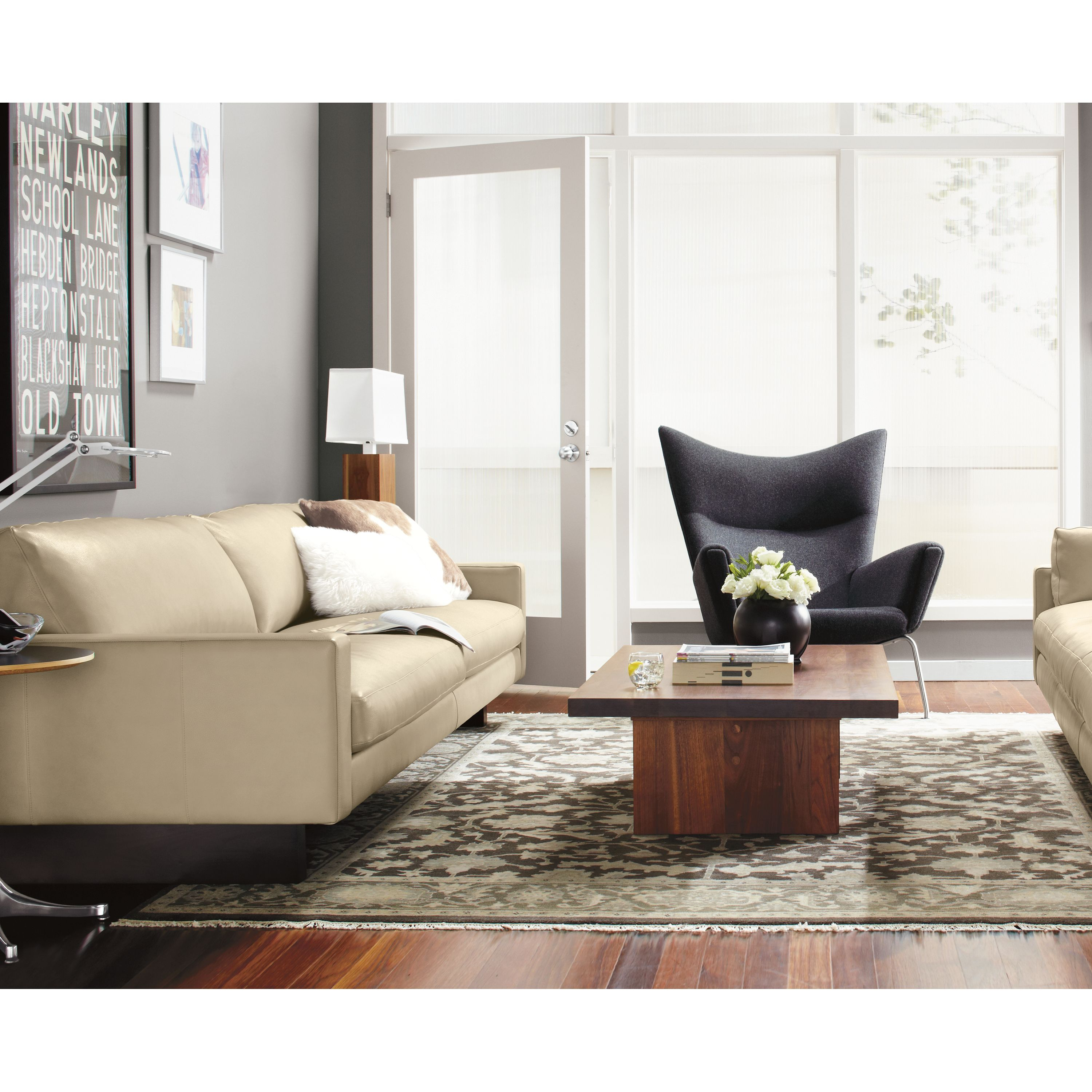 - Room & Board Hess Leather Daybeds Modern Leather Sofa, Custom