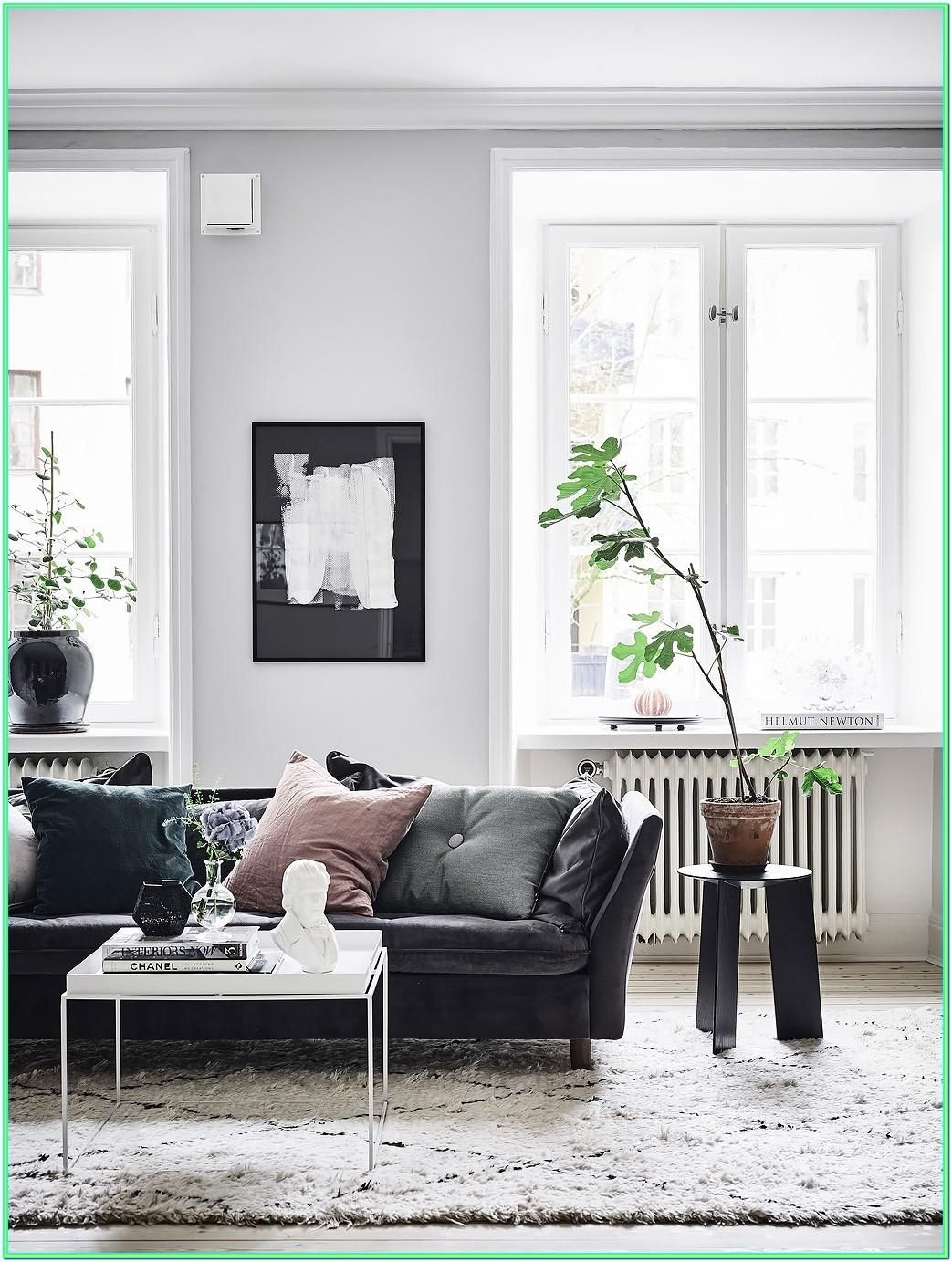 Living Room Decorating Ideas With Black Leather Furniture Interior Ruangan Home Decor