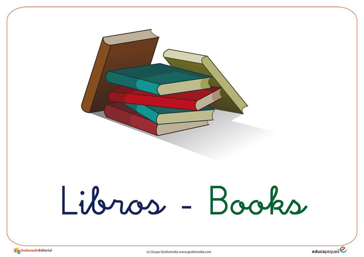 Vocabulario Ingles Espanol En Imagenes El Colegio Con