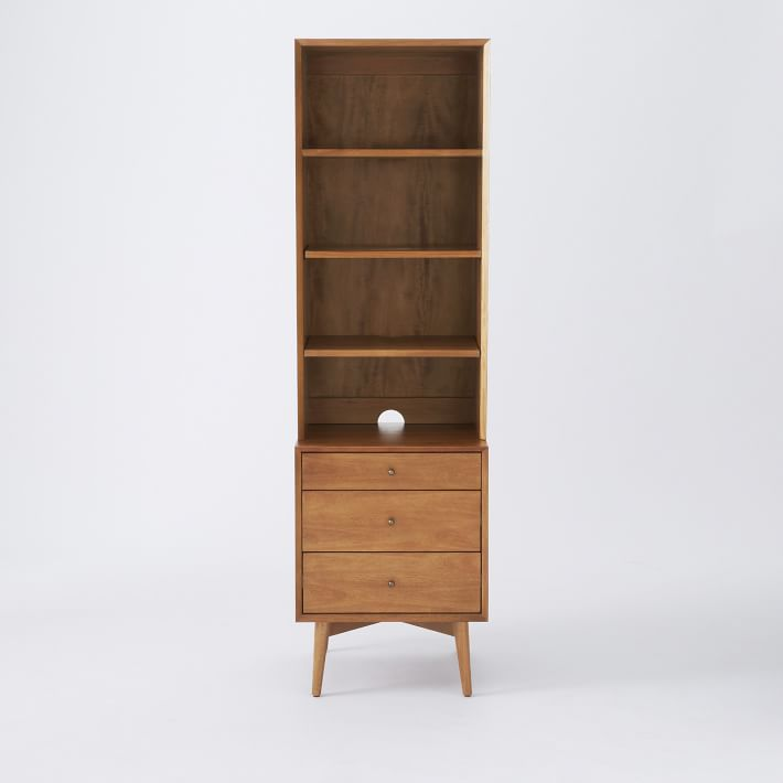 Best Mid Century Bookcase With 3 Drawer Side Table Acorn 640 x 480