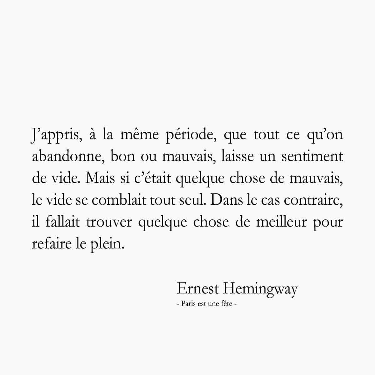 Ernest Hemingway Paris Est Une Fete Citations Sur Les Mots