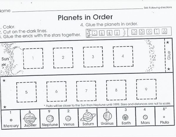 Outer Space Solar System Worksheets Science Worksheets Free Science Worksheets Printable solar system worksheets