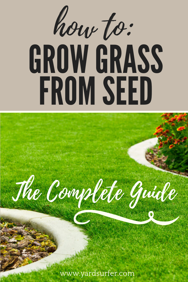 The Complete Guide On How To Grow Grass From Seed Get A Beautiful Backyard With Grass Growing Tips Growing Grass Growing Grass From Seed Planting Grass